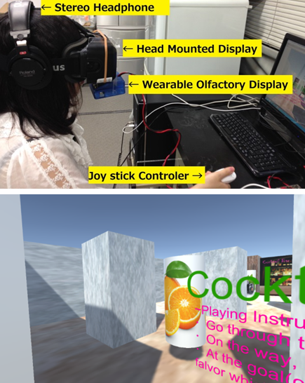 The cocktail maze using wearable olfactory display will be demonstrated during DOS congress